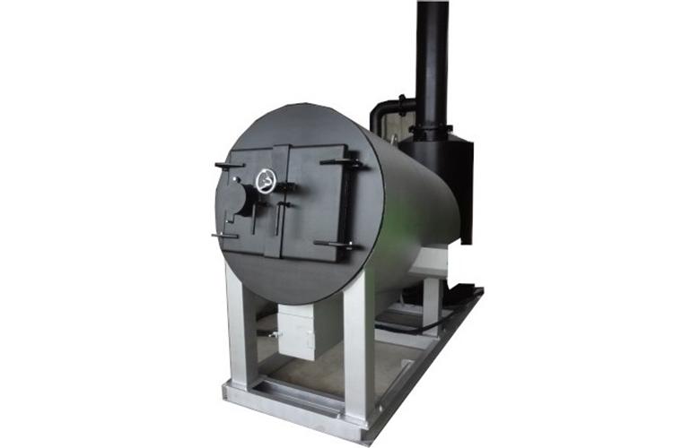 無圧式小型温水バイオマスボイラ